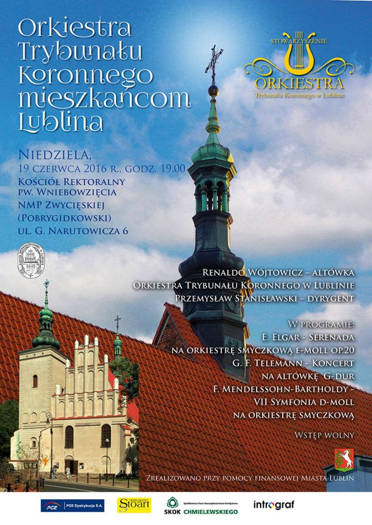 AFISZ B2 - Koncert 19 czerwca - Orkiestra Trybunalu Koronnego