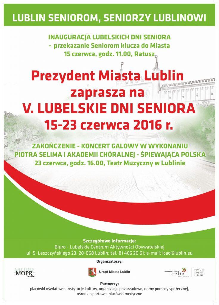 PLAKAT LUBELSKICH DNI SENIORA 2016