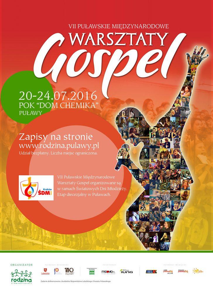 Warsztaty Gospel 2016 - plakat internet