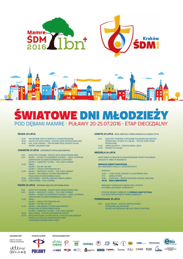 ŚDM 2016 - PLAKAT PUŁAWY - B2 druk