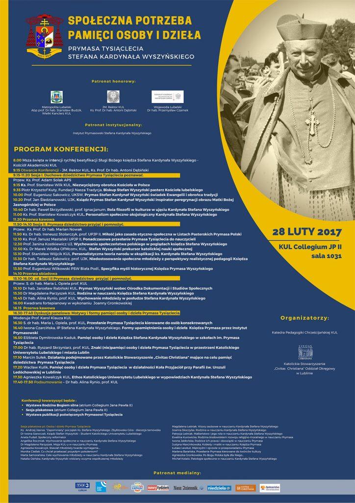 Plakat Konferencja Prymasowska