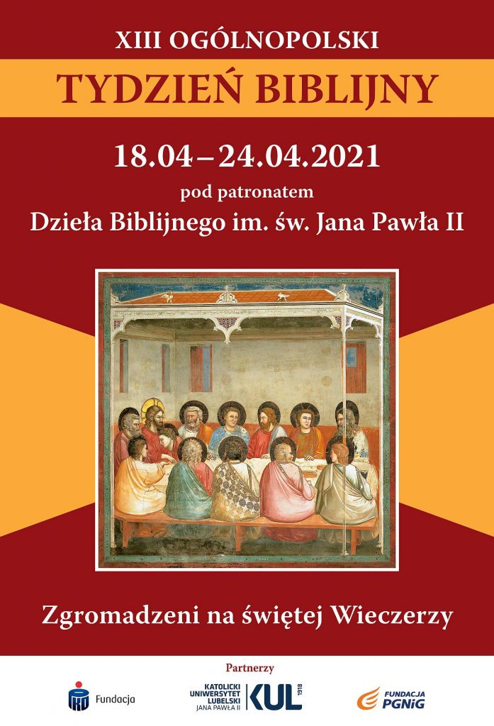 XIII Ogólnopolski Tydzień Biblijny 18-24.04.2021 – Archidiecezja Lubelska